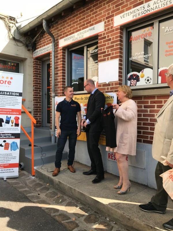 Inauguration_Aurore_personnalisation_Polos Aurore personnalisation pour TRANSDEV